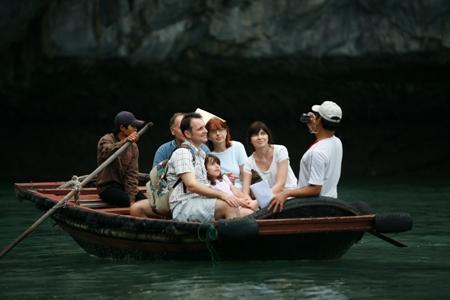 Familyfun on boat