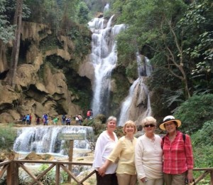 waterfall in laos-Happy clients
