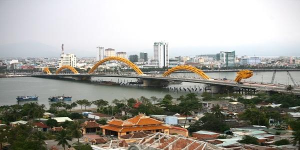 Dragon bridge Danang city