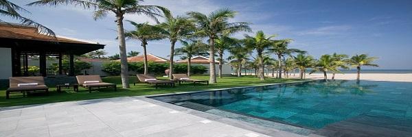 the Nam Hai resort Hoian